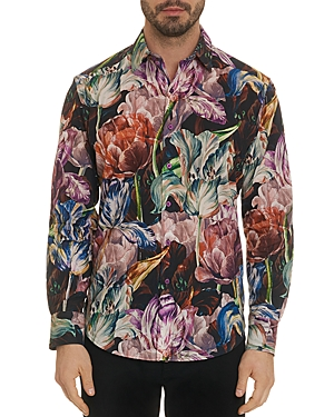 Robert Graham Acadia Floral-Print Regular Fit Shirt