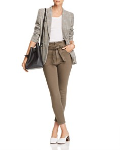 Current/Elliott - Corset Stiletto Cropped Skinny Jeans in Olive - 100% Exclusive
