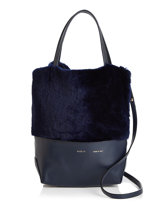 Alice.D - Small Leather & Shearling Tote - 100% Exclusive