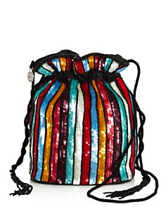 From St Xavier - Kingston Medium Sequin Drawstring Crossbody