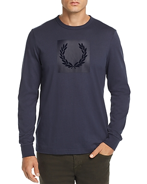Fred Perry Tonal Flocked Laurel Wreath Graphic Tee