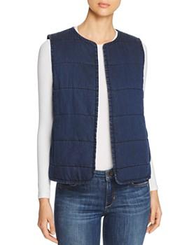Eileen Fisher Petites - Quilted Denim Vest
