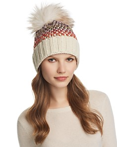 Kyi Kyi - Knit Multi-Color Pom-Pom Beanie