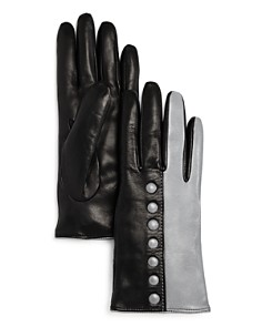 Bloomingdale's Color-Block Leather Gloves - 100% Exclusive _0