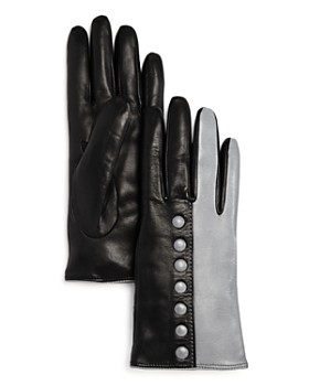 Bloomingdale's - Color-Block Leather Gloves - 100% Exclusive