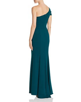 Avery G - Double-Strap One-Shoulder Gown