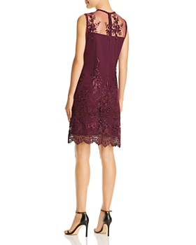 nanette Nanette Lepore - Sleeveless Illusion Embroidered Dress