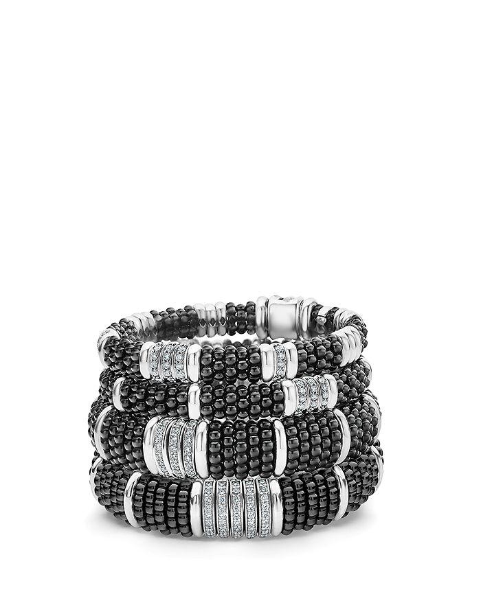 LAGOS - Sterling Silver Black Caviar Station Bracelet