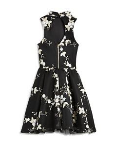 Miss Behave - Girls' Grace Mesh Floral Dress - Big Kid