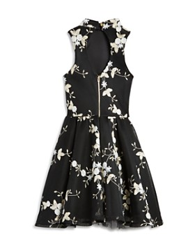 Miss Behave - Girls' Grace Mesh Floral Dress - Big Kid