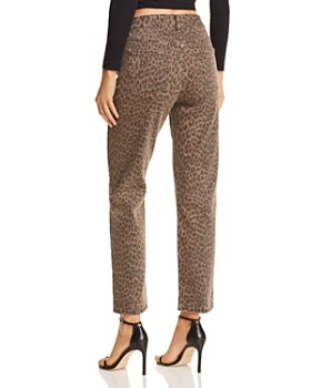 Pistola - Monroe High-Rise Leopard Print Cigarette Jeans in Wilder - 100% Exclusive