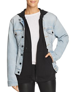 alexanderwang.t - Joint Mix Jacket in Bleach