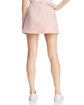 FRENCH CONNECTION - Suedette A-Line Mini Skirt