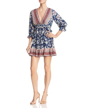 Lost + Wander Indigo Muse Floral-Print Mini Dress 3091143