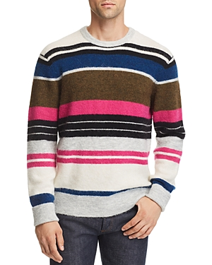 Frame Textured Multi-Stripe Pullover Sweater