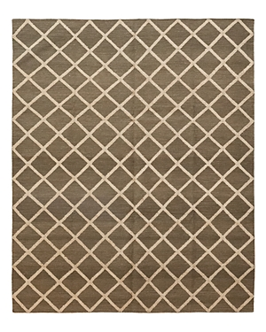 Solo Rugs Flatweave Brown Hand-Knotted Area Rug, 8'1 x 10'1