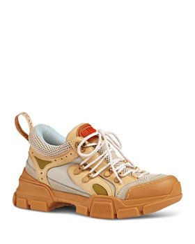 Gucci - Women's Sega Leather & Canvas Lace Up Sneaker