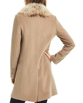 SAM. - Crosby Wool Coat with Fur Trim