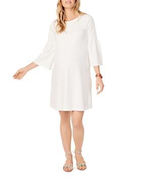Ingrid & Isabel - Maternity Ponte Bell-Sleeve Dress