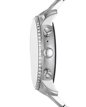 Fossil - Q Explorist HR Stainless Steel Touchscreen Smartwatch, 45mm