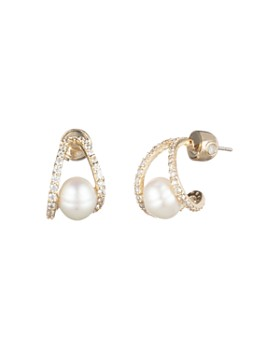 Carolee - Cultured Freshwater Pearl Huggie Earrings