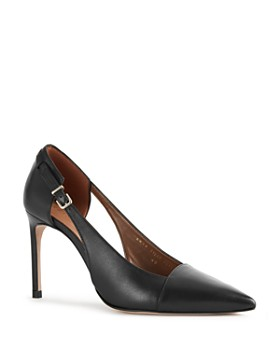REISS - Women's Halley Pointed Toe High-Heel Court Pumps