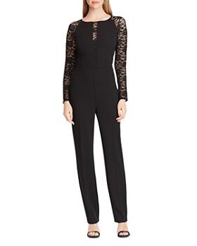 Ralph Lauren - Jersey Lace-Sleeve Jumpsuit