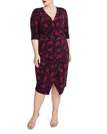 Rachel Roy Plus - Silvia Printed V-Neck Dress