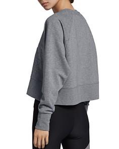 Nike - Versa Embossed Cropped Training Sweatshirt
