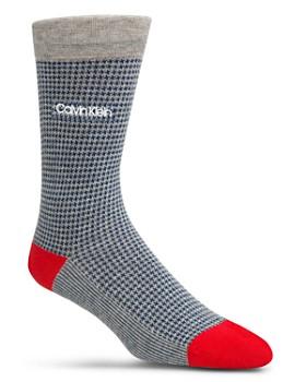 Calvin Klein - Houndstooth-Print Socks