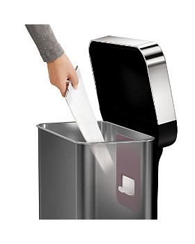 simplehuman - 58-Liter Rectangular Sensor Trash Can with Voice & Motion Control