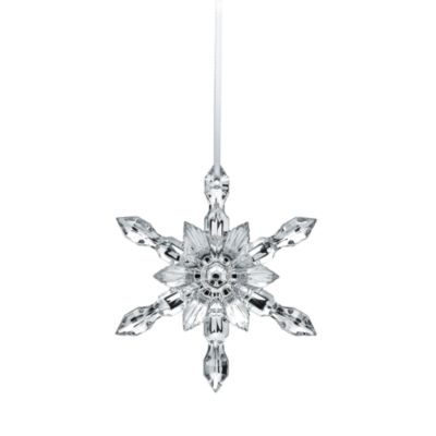 Silver Snowflake 2018 Ornament by Baccarat