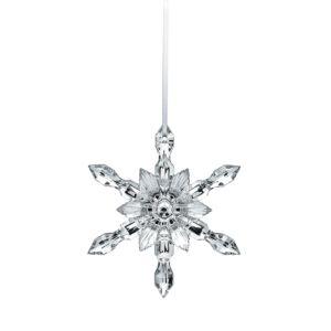 Baccarat Silver Snowflake 2018 Ornament