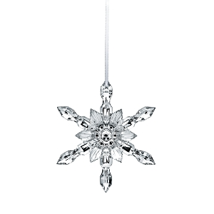 Baccarat Silver Snowflake 2018 Ornament