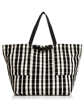 Baggu - Plaid Large Canvas Tote Travel Bag