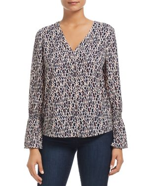 FINN & GRACE Smocked Leopard Print Top - 100% Exclusive in Pink Leopard