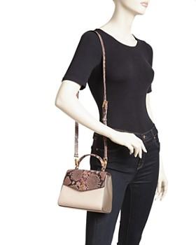 Tory Burch - Robinson Medium Snakeskin-Embossed Leather Shoulder Bag