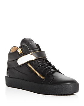 Giuseppe Zanotti - Men's Leather Mid Top Sneakers