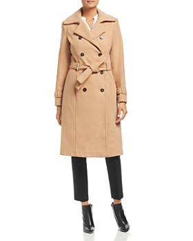 Calvin Klein - Double-Breasted Front Belted Coat