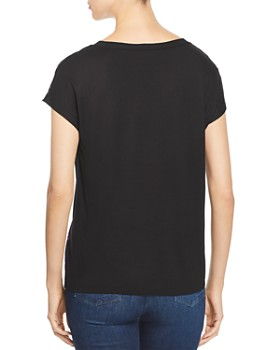 Donna Karan - Sequined Abstract Print Top
