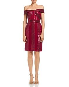 Tadashi Shoji - Off-the-Shoulder Sequin & Velvet Dress