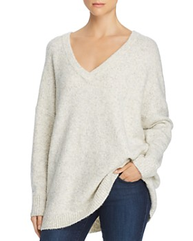 FRENCH CONNECTION - Deep-V Tunic Sweater