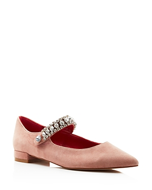 Kurt Geiger WOMEN'S KINGLY POINTED TOE BALLERINA FLATS