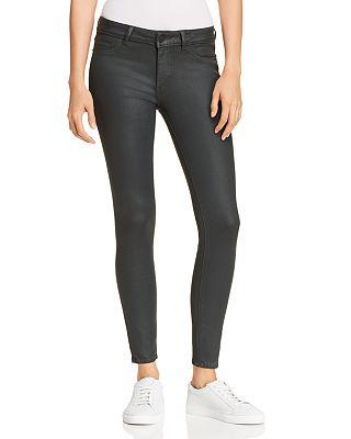 Dl1961 Emma Coated Skinny Jeans In Ivy Bloomingdales