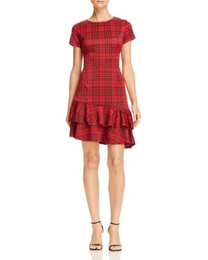 Aqua Tiered-Hem Plaid Dress - 100% Exclusive
