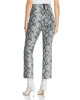 Veda - Palmer Cropped Snake-Print Leather Pants