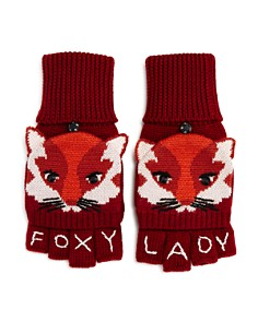 kate spade new york - Fox Intarsia Pop Top Mittens
