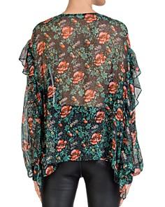 The Kooples - Silk Floral-Print Ruffle-Trim Blouse