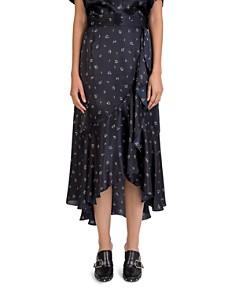 The Kooples - Silk Floral-Print Skirt
