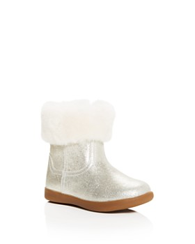 UGG® - Girls' Jorie II Nubuck Leather & Shearling Booties - Walker, ...